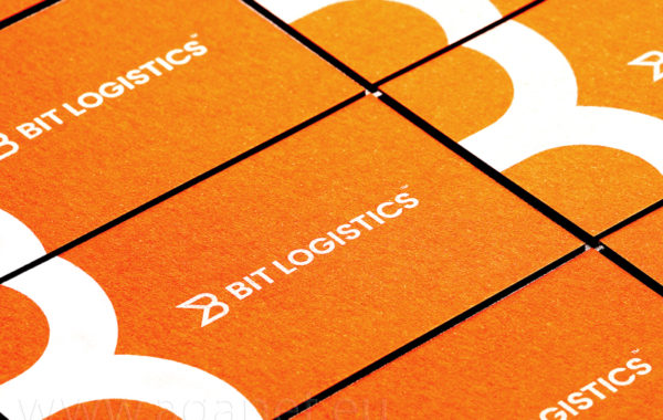 Pomarańczowe energetyczne wizytówki